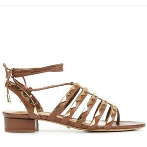 Schutz Marlize Gladiator Sandal with Gold Studs